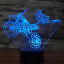 Motorcycle stunts Touch Table lamp 7 Colors Changing Desk Lamp 3D Lamp Novelty Led Night Lights LED Light Drop Ship(China)