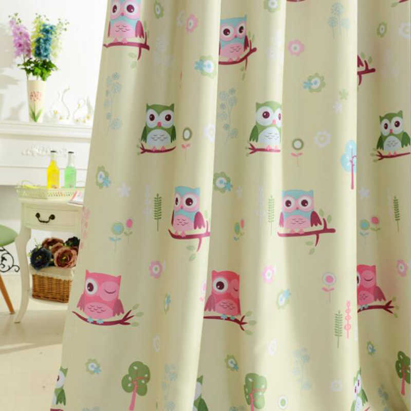 Kids Cartoon Voile Panel Blackout Drapes Blue Curtains Tulle For Living Room Boys Girls Children's Bedroom sheer Curtain WP220&3