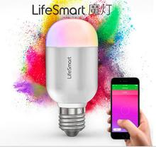 Lifesmart Home Automation System Smart LED Bulb Light E27 bluetooth Wireless Control 160 Million Colors shake music Dimming Lamp