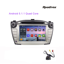 Pure Android 5.1 Quad Core 1024*600 Car DVD Player for Hyundai IX35 2009-2013 BT, Touch Screen GPS stearing-wheel ODB DVR Mirror