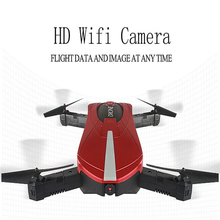 2017 JY018 WiFi FPV Quadcopter Mini Dron Foldable Selfie Drone RC Drones With Camera For Photo Taken Funny Enjoyable Flight Toys(China)