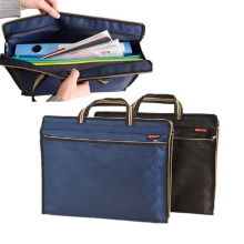 Teacher/Husband/Dad waterproof brand A4 paper file folder bag casual work book magazine documents zip bag with handle black blue