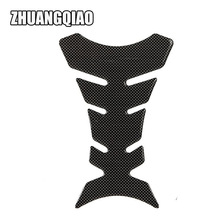 New 3D Carbon Fiber Motorcycle Gel Oil Gas Fuel Tank Pad Protector Sticker Decal For Honda Yamaha Suzuki ATV Moped(China)