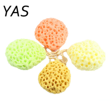 YAS Bath Scrubber Shower Spa Sponge Body Cleaning Scrub Scrubber Random Colors Bath Ball High Quality