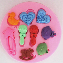 Creative DIY Baking Tool Cartoon Characters Bulk Love 3D Silicone Fondant Mold Cake Decorating Tools Chocolate Mould CD-F157(China)