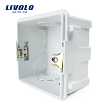 Free Choose, White Plastic Materials, 83mm*83mm UK Standard Internal Mount Box for 86mm*86mm Standard Wall Light Switch