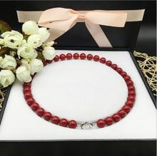 2017  New 924+++ 10mm coral necklace