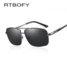 RTBOFY Polarized Sunglasses Mens Cool Vintage Brand Design Male Sunglasses Polaroid lenses Goggles Shades Masculine glasse W0959(China)