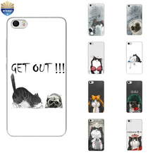 Phone Case For Xiaomi Hongmi Redmi 3 Pro Note 2 3 4 Soft Shell Mi 4 4i 4c 4s 5 Max Note 2 Cover Funny Fat Cat Design Painted(China)
