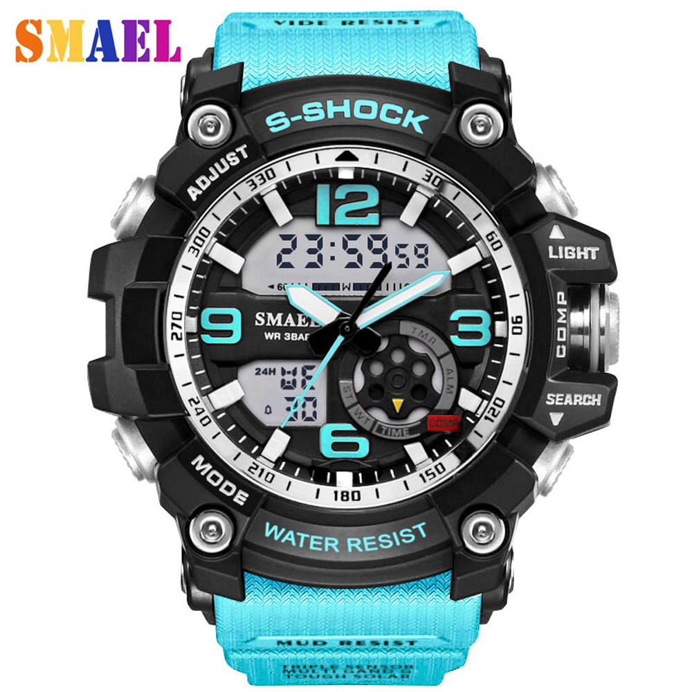 2017 new Digital LED multifunction Mens casual Watches mens sports watch Outdoor waterproof G watch male Students Wristwatches<br><br>Aliexpress