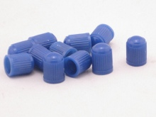 100pcs blue PLASTIC TIRE VALVE STEM CAPS Dust Cover