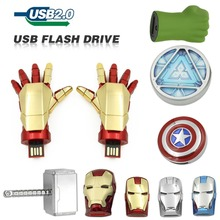 Hot Selling free shipping 64GB 32GB 16GB 8GB USB Drive Flash Stainless Steel USB 2.0 Flash Memory Pen Drive pendrive(China)