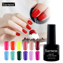 Sarness Nail Gel 29 Colors 8ml Glitter UV Gel Nail Polish Color Soak Off Gels Varnish Nail Primer Semi Permanent Top and Base(China)