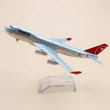 Alloy Metal Air American NWA Northwest Airlines B747 Airplane Model NWA Boeing 747 Airways Plane Model Aircraft Kids Gifts 16cm(China)