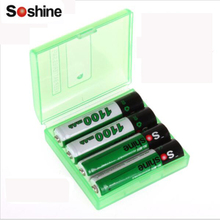 Original Soshine 4pcs/pack Ni-MH AAA Battery 1100mAh Batteries Rechargeable Battery +Portable Battery Box Drop Shipping(China)