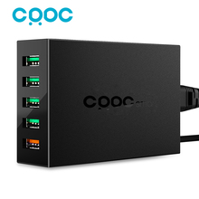 CRDC Quick Charge 2.0 5 Ports QC2.0 USB 54W Desktop Mobile Charger Station for huawei Phone 7 Apple iPad Samsung Song HTC& More