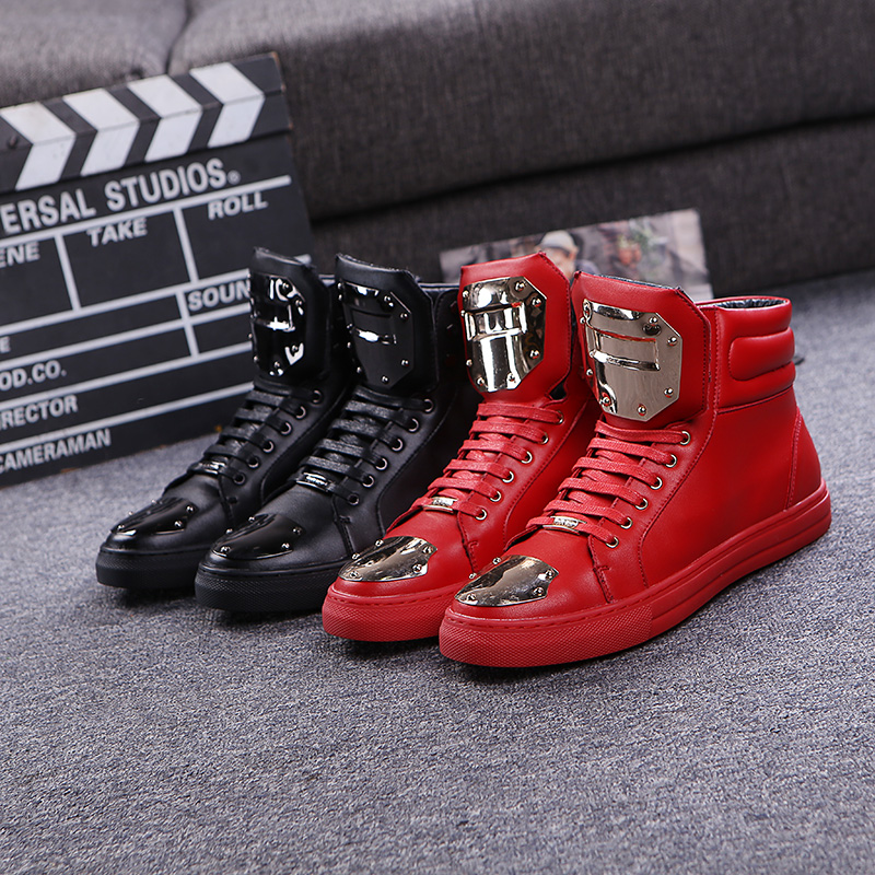 M ens autumn and winter boots increased within Europe and  British heavy-bottomed high-top boot  lace casual  genuine tide<br><br>Aliexpress