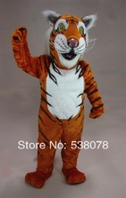 Striped Tiger Mascot Adult Size Wild Animal Beast Theme Mascotte Mascota Suit Kit Carnival Cosply Party Costumes FreeShip SW1087