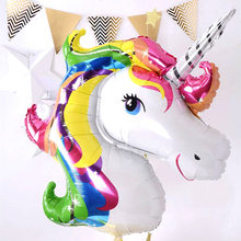 1Pieces Birthday Party Decorations kids Foil Balloons 39inch Latex Unicorn Balloon Party Supplies Wedding/Halloween/Christmas(China)