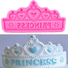 DIY Princess Crown Shape Silicone Cake Mold ,Chocolate Jelly Baking Mould Sugar Craft Tools Fondant Cake Decorating Tools