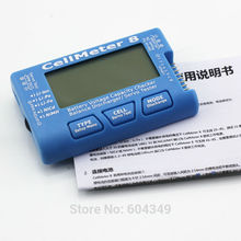 AOK Cell Meter 8 without  background light  and Discharge  Multifunctional Digital Power Servo Checker Tester 2S-8S  8M