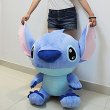 Free shipping lovely Large Creative Stitch, Stitch pillow blue, pink Stitch plush toys, Christmas gifts, lovers gifts (50cm)
