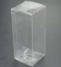 Size:6*6*16cm, pp plastic box , small pvc boxes , clear pvc boxes wedding favors gift(China)