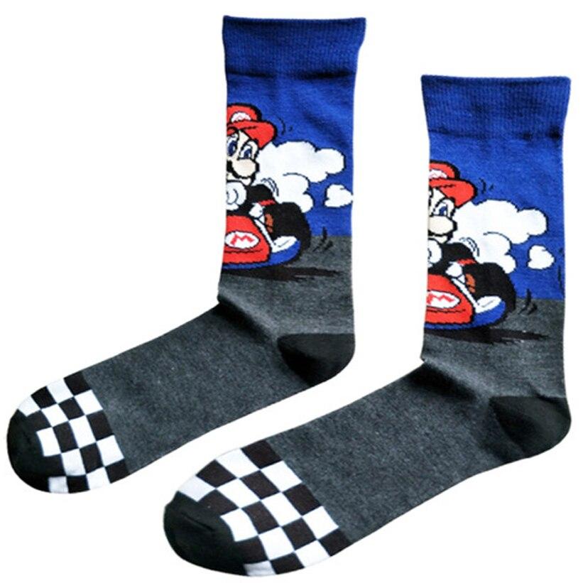12 Pairs Game Super Mario Socks Street Cosplay Comics Women Men Donkey Kong Mario Bros Socks Party Novelty Funny Party Halloween Diversified In Packaging Men's Socks