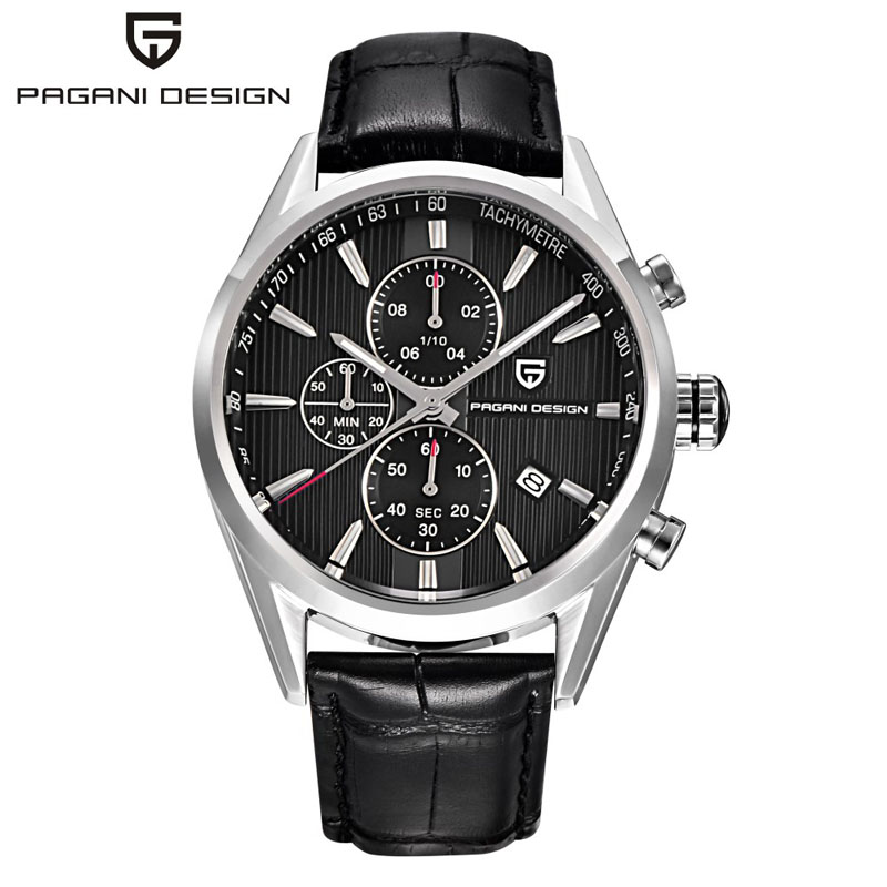 Relogio Masculino Pagani Design Chronograph Casual Men's Watches Japanese Movement Fashion Quartz Watches Stainless Steel Case(China (Mainland))