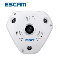 ESCAM SHARK QP180 Security Camera 360degree Panoramic Fisheyes Two way Audio Wifi infrared VR camera Night Vision CCTV IP Camera