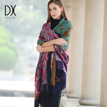 DANA XU Winter luxury Brand Plaid Cashmere Scarf Women Oversized Blanket Wrap Long Wool Scarf Women Pashmina Shawls and Scarves(China)