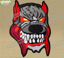 New Evil Dog Jacket Back Embroidered Twill Patches Full Set Motorcycle Club Patch Iron-on Patch 25.4cm*18.5cm Free Shipping