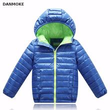 2017 New Fashion Spring Jacket Boys Autumn Jackets For Girls Clothes Children's Baby Kids Warm Hooded Down Coat Children Hoodies(China)