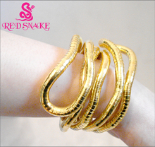 RED SNAKE 1piece Gold-color Bendy Fashion Flexible Snake Necklace 90cm*6mm Larger Retail for $26