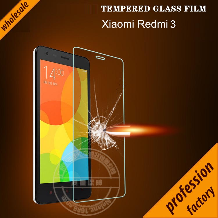 High quality Glass film for Xiaomi Redmi 3  for re...