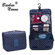 Portable Nylon Hanging Organizer Bag Foldable Cosmetic Makeup Case Storage Traveling Toiletry Bags Wash Bathroom Accessories