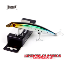 Kingdom fishing lure floating popper for sea fishing 3 sizes Minnow lure Bait fishing tackle VMC quality Hook model 5326(China)