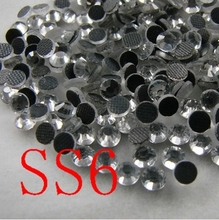 DMC Hotfix Rhinestone clear white colour Size ss6(1.9-2mm) 1440pcs/ag Flat back rhinestone with glue for shoes dress accessaries