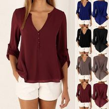 Buy New 2016 Autumn Women chiffon shirt Fashion Long sleeved women blouses shirt plus size casual chiffon tops loose women shirts for $5.86 in AliExpress store