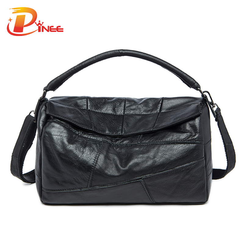 Leisure Women Bags Genuine Leather Famous Brand  Bag Real Cowhide Leather Pillow Handbags Wholesale<br><br>Aliexpress