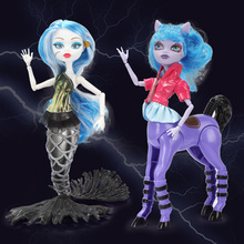 Khaki Girls Doll 12inch Horses Action Figures Mermaid Dolls Accessories Classic Toys Doll For Girls Kids Toys Without color Box