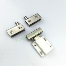 Glass cabinet, door hinge sets,Stainless steel,for bar glass cabinets,showcase hinge,hardware for glass thickness 5-8mm(China)