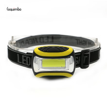 Coquimbo Mini LED COB Headlamp 4 Modes Fishing Light PVC Head Torch Lamp With Headband Used 3 AAA Batteries Head Torch Light(China)