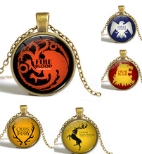 Game of Thrones The Song Of Fire And Ice Necklace Glass Cabochon Necklace Fashion Statement Choker Necklace 5 Designs Options