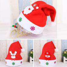 2016 Hot Sale Child Christmas Party Santa Hat Red And White Cap for Santa Claus Costume New Santa cap gorro vicky
