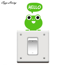 Switch Panel Stickers 1 PC Bedroom Wall Decorating Switch Vinyl Decal Sticker Decor Cartoon Frog Wall Sticker Poster D24