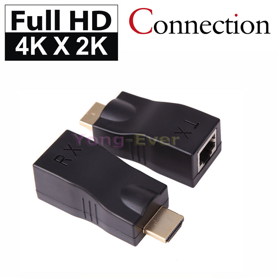 100 Feet HDMI 2.0 Single RJ45 CAT5E CAT6 CAT-5e/6 UTP LAN Ethernet 30M HDMI Extender Repeater HD 4K 1080P For HDTV HDPC PS3 STB(China (Mainland))