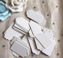 2*4cm Flower heads handmade baking blank price tag white cardboard label Clothing Garment Tags Words paper id card 600 pcs/lot
