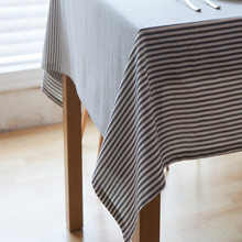 Europe brief stripe TableCloth Linen Tablecloth For Christmas Wedding Party Cafe dinner table decor Table cover Rectangle/Round