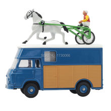 Dinky Toys Atlas 571 Blue Avec Driver Sulky Cheval SAVIEM de Chevaux Courses Transport Alloy Diecast Car model & Toys Model(China)